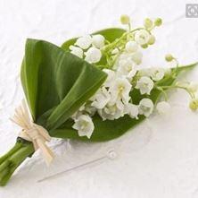 Obrázek Korsáž pro ženicha - Konvalinky
